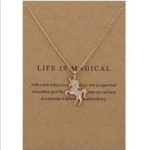 5/15$🦄 Life is Magical GP Unicorn Necklace